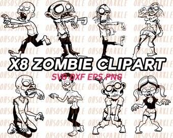 halloween svg, zombie svg, walking dead svg, clipart, eps, dxf, stencil, vector, vinyl, stencils, silhouette, cricut, sizzle, printable