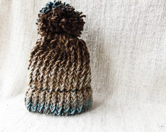 Baby hat brown//children's hat Brown