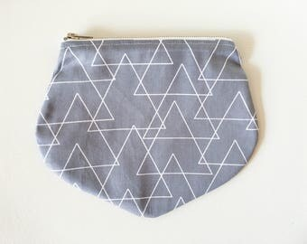 Grey Skies zip pouch