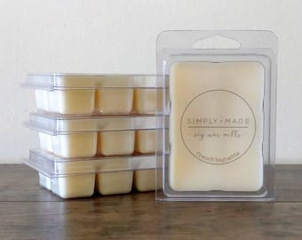 French Baguette Soy Wax Melts, Scented Wax Melts, Soy Wax Tarts, Soy Melts, Clamshell Melts, Eco Friendly Natural Candle Melts