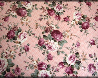 Self-Adhesive Sheet A4 printed flowers pink green white