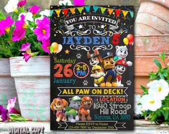 Paw Patrol Invitation,Paw Patrol Birthday,Paw Patrol Party,Paw Patrol Card,Paw Patrol Printable,Paw Patrol Invitations,Paw Patrol Boy_BS158