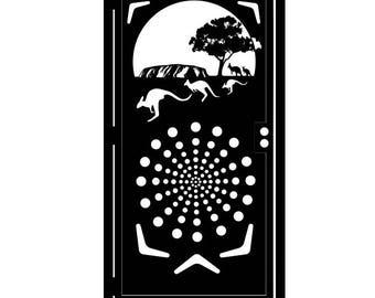 Decorative Steel Gate - Steel Panel Art - Australian Outback - Australia Scenery Art - Scenic Gate - Nature Gate - Decorative Wall Panel