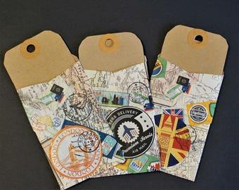 3 Travel Tag and Envelope / Pocket Journal