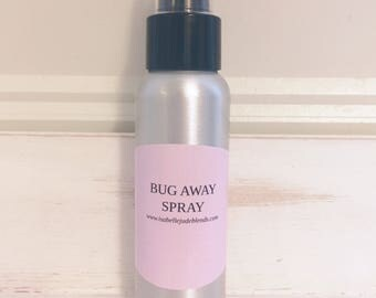 Organic Bug Away Spray; Deet Free, Essential Oils, All Natural, Insect Repellant, Mosquito Repellant, Tick Repellant, Kids