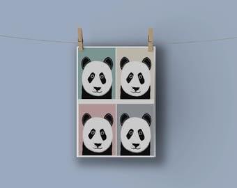 A3 Panda Club Print