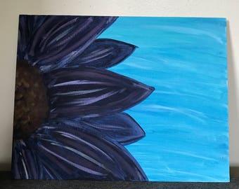 Whimsical purple flower painting