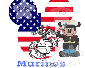 Proud To Serve Marines Iron On Transfer