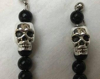 Black Goth Earrings (#116)