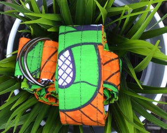 Green & Orange African Wax Print Yoga Mat Strap/Sling