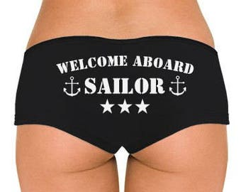 Welcome Aboard Sailor Low Rise Cheeky Boyshorts