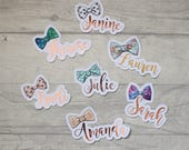 Personalised Bow & Foil Die Cut