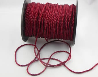 Soutache Burgundy twisted cord