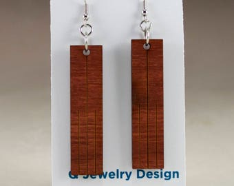Laser Engraved Wood Earrings