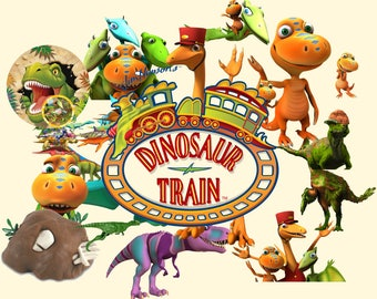 Dinosaur Train ClipArt 55 PNG- Digital-ClipArt-image-300 PPI-PNG Images-Clip Art background-Scrapbooking-Instant Digital-Png