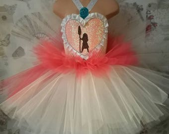 Moana inspired Tutu Dress