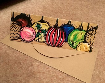 Christmas Bauble Card Pack