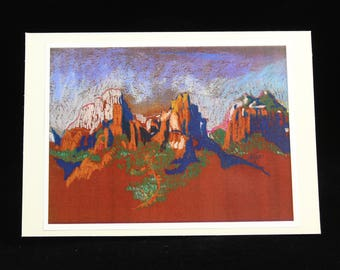 Sedona Arizona Note Card, from Southwest Pastel Painting by Karlene Voepel