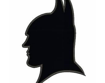 Batman face applique Embroidery Machine Design pes superheroes digital instant download pattern hoop file t-shirt towel designs