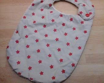 Cute personalized bib cotton laminated cotton and cotton Terry