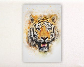 Tiger - Watercolor prints, watercolor posters, nursery decor, nursery wall art, wall decor, wall prints | Tropparoba - 100% made in Italy