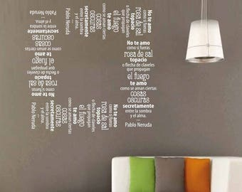 Spagnolo etsy for Scritte adesive muro