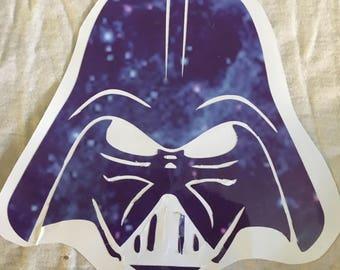 Star Wars Galaxy Pattern Darth Vader Decal