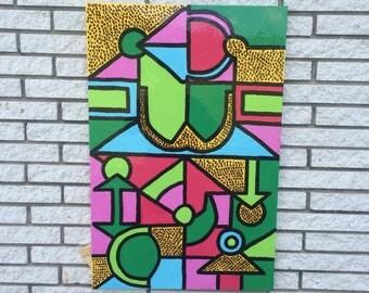 Acrylic on Canvas art painting