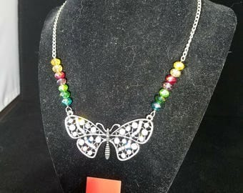 Rainbow and Crystal Butterfly