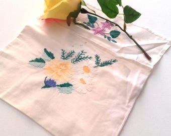 Wall Decor Envelope Vintage Latvian Embroidered  Retro Floral Ornament Good Condition
