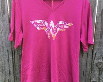 Printed vinyl Wonder Woman Ladies cut shirt