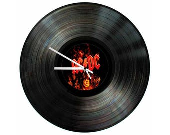ACDC Vinyl Clock 12 inch