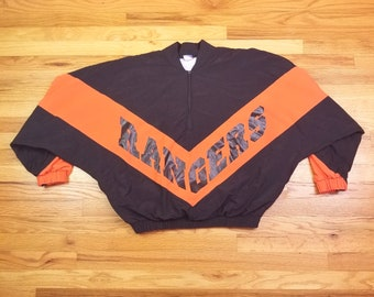 Vintage Rare 80s New York Rangers Hockey Brute Jacket Size Large L