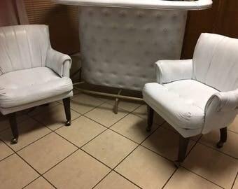 Mid Century Modern Rehabbed Barrel Club Chairs