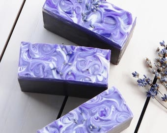 Vanilla Lavender Vegan Soap,  Cold Process, Ecofriendly, Lavender Essential Oil, Olive Oil Soap, Made with Kokum Butter and Cocoa Butter