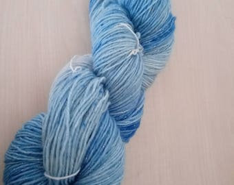 Hand-dyed wool with glitter Ice Princess