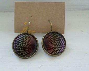 Fancy psyche patterned earrings