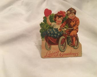 Antique children's valentine greeting card