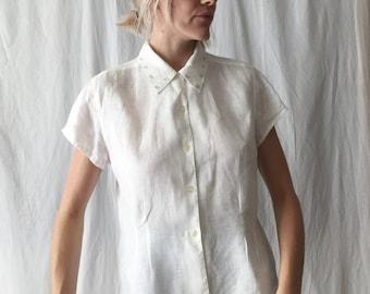 Linen Button Up Top