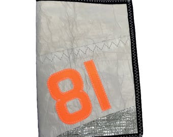 Neon orange 81 recycled sailcloth Ipad case