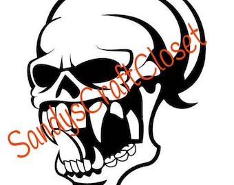 Vampire Skull Svg File