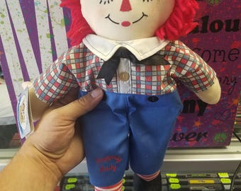 90th Anniversary Raggedy Andy Doll. 2005 Hasbro. New with tags