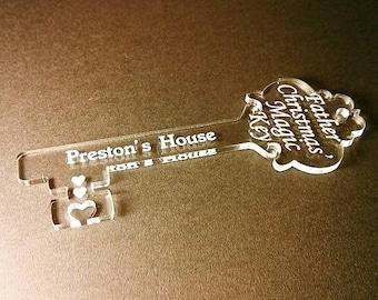 Personalised Santa Key Father Christmas Magic Key Acrylic