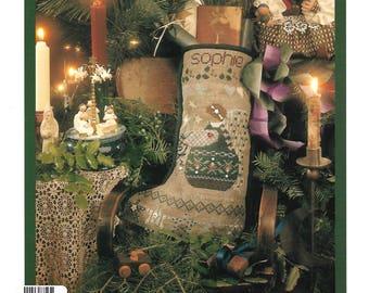 SHEPHERDS BUSH - Sophie's Stocking - Vintage 1995 Pattern - Christmas Stocking, Angel, Used Pattern