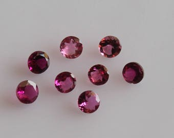 Natural Pink Tourmaline Round Faceted AAA Quality For 1 Piece