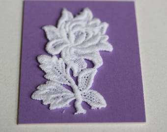 White Lace Floral Applique