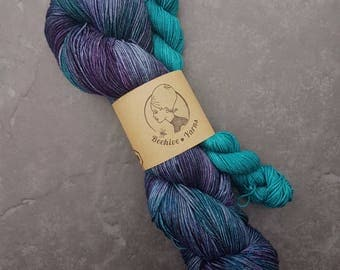 DYED TO ORDER: Song to the Siren + Teal Appeal ~ Audrey ~ Merino Nylon Sock Yarn Set