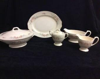 Homer Laughlin Vintage complete set of china dinnerware