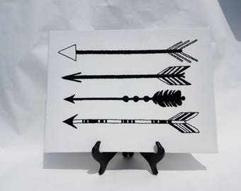 Tribal arrow embroidery art