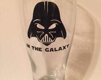 Darth Vader Father Beer Glass, Gift for Dad, Star Wars Gift, Beer Glass, Star Wars Beer Glass, Vader Tumbler, Star Wars Tumbler